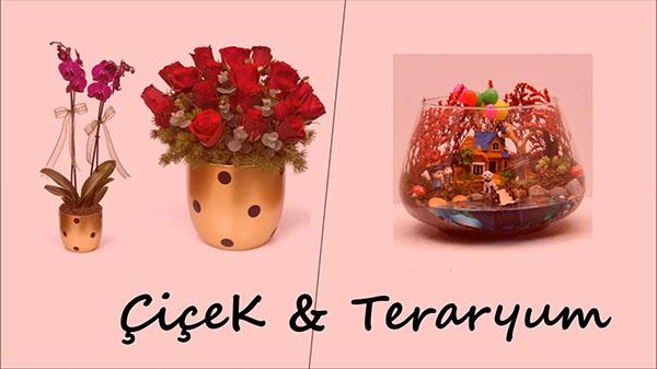 14 Şubat Hediye Önerileri çiçek ve teraryum