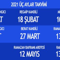 2021 Ramazan Başlangıcı ne zaman? üç aylar takvimi
