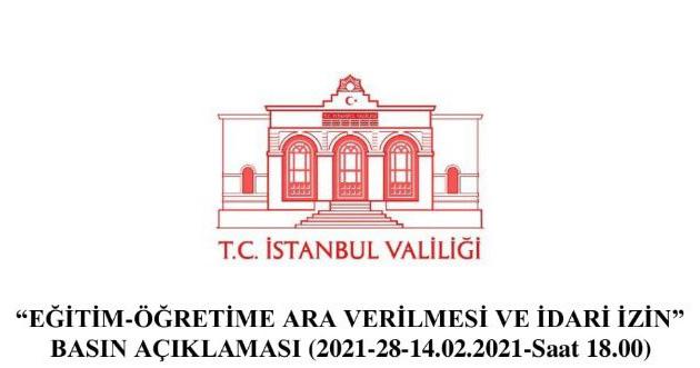 İstanbul kar tatili