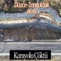 Düzce ile Zonguldak arasındaki D-655 Karayolu Heyelan Nedeniyle Çöktü