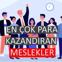 Türkiye'de En Çok Para Kazandıran Meslekler
