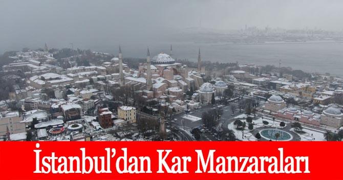 İStanbuldan kar manzaraları Ayasofya