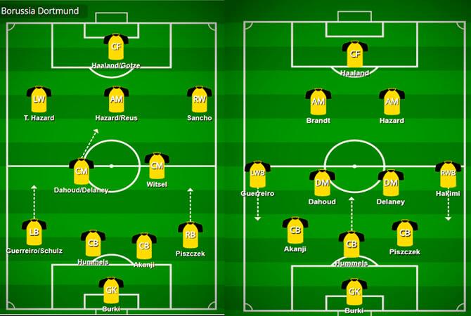Lucien Favre Taktik 4-2-3-1 veya 3-4-3